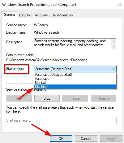disk usage above 90 windows 10