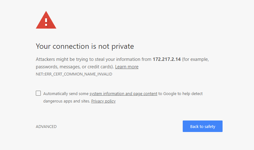 "How to Fix &quotYour connection is not private"" Error in Chrome - Image 1"