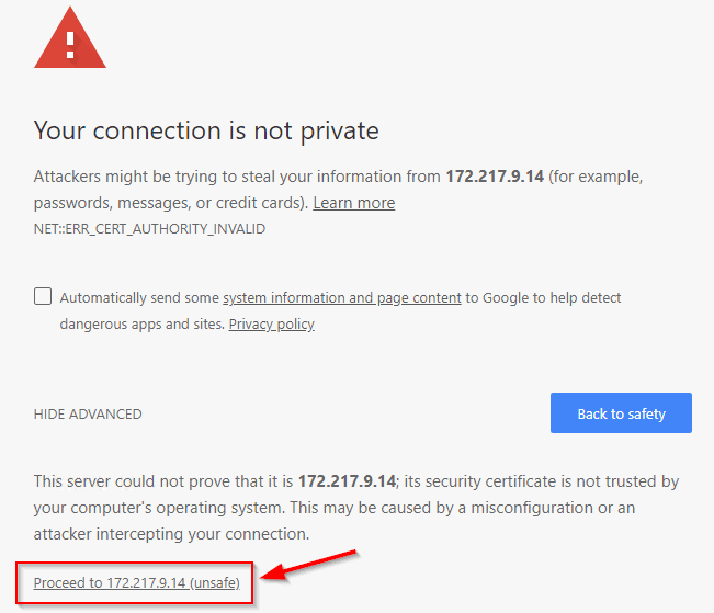 "How to Fix &quotYour connection is not private"" Error in Chrome - Image 3"