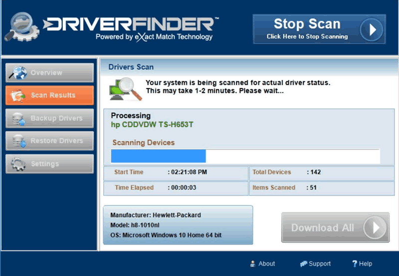 ADS Driver Update Utility Scanning