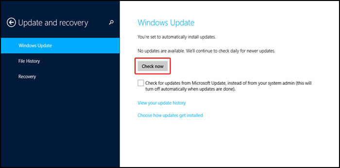Download and Install Windows 8 Drivers with Windows Update